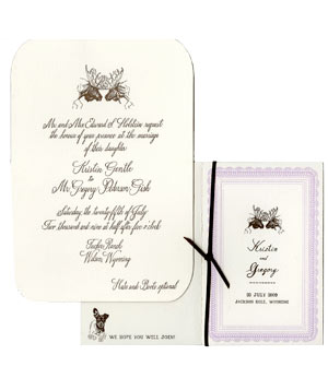 Mr. Boddington Wyoming wedding with moose invitations