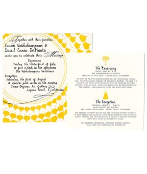 Mr. Boddington art gallery reception wedding invitation