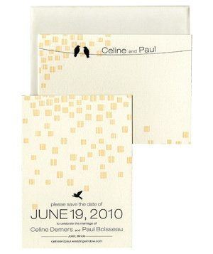 Dauphine Press save the date with thank you note