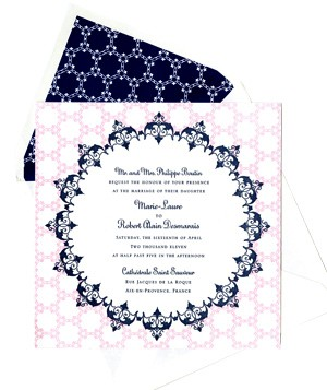 Dauphine Press sophisticated wedding invitations