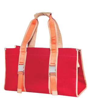 Plank canvas tote