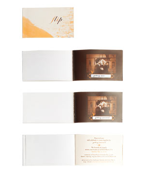 Flip book wedding invitation