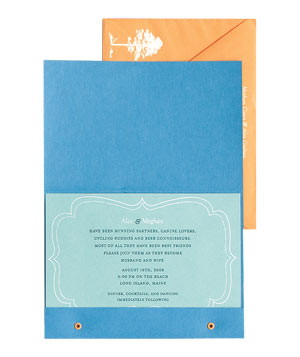 Foreshadow Press casual wedding invitation