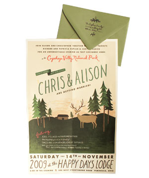 Rifle Design movie poster wedding invitation