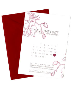 Wiley Valentine simple calendar save the date