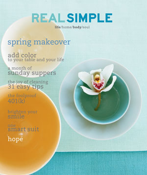 Real Simple April 2001 cover