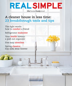 Real Simple April 2003 cover