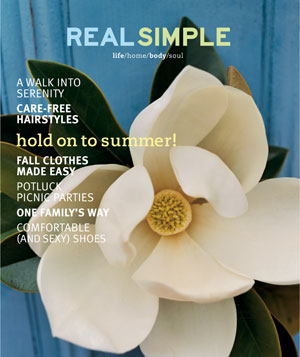 Real Simple August 2000 cover