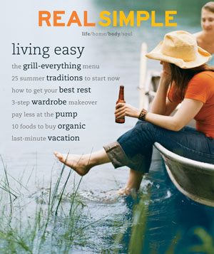 Real Simple August 2001 cover