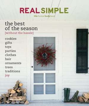 Real Simple December 2000/January 2001 cover