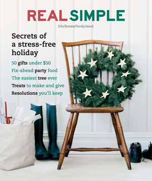 Real Simple December 2001/January 2002 cover