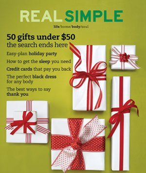 Real Simple December 2003/January 2004 cover