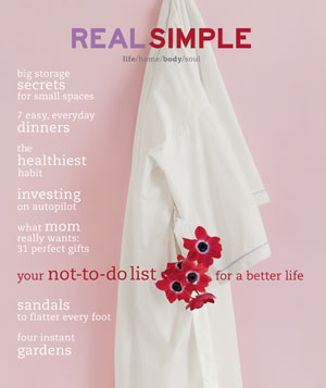 Real Simple May 2001 cover