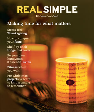 Real Simple November 2001 cover