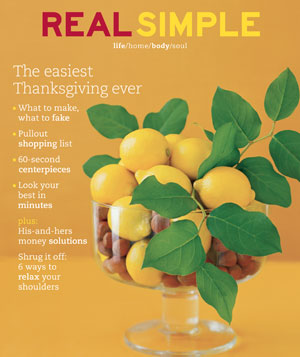Real Simple November 2002 cover