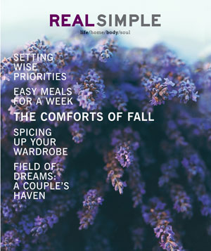 Real Simple October 2000 cover