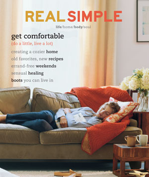 Real Simple October 2001 cover