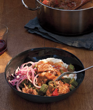 Jalapeno Pork Stew With Pickled Onions