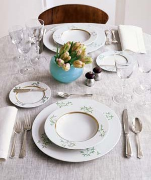 Place setting for a special-occasion dinner