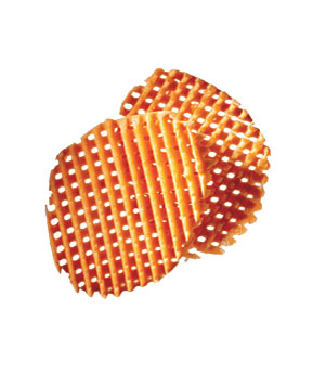 Waffled sweet potatoes