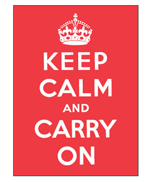 """Keep Calm and Carry On"" cover"