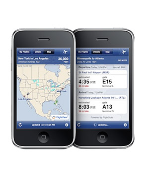 FlightTrack app for iPhone