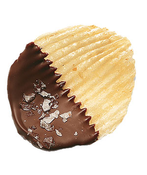 Chocolate-Dipped Potato Chips