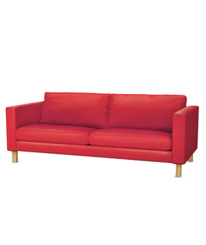 Ikea Karlstad sofa with cover