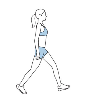 Illustration of a walking meditation