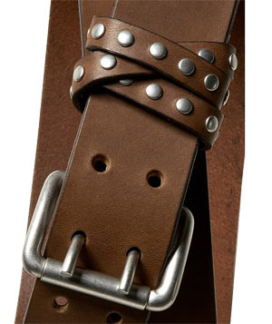Studded Leather Belt by Banana Republic