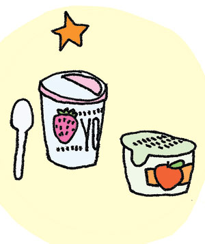 Illustration of yogurt or applesauce