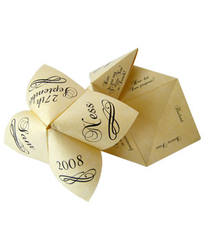 6 wedding favors guests will love really real simple elegant origami cootie catchers by kats krafts junglespirit Gallery