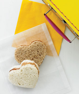 Heart-shaped sandwiches