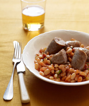 Sausage with White Bean and Tomato Ragout