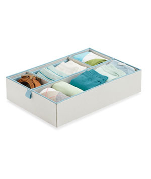 4-Compartment Adjustable Drawer Organizer