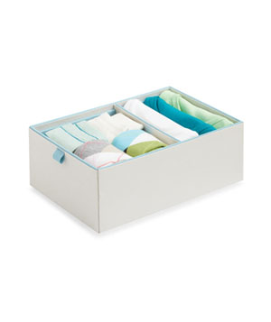 2-Compartment Adjustable Drawer Organizer