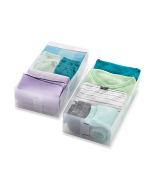 2-Piece Drawer Organizer Sets