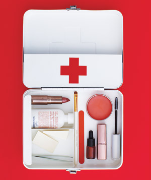 Cosmetics in a First Aid Kit