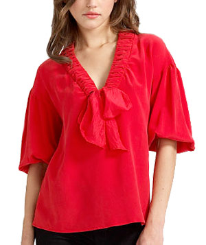 Twist of Fate Silk Top by Nanette Lepore