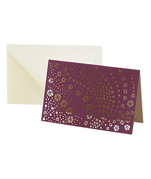 Sequined Laser-Cut Stationary by Vera Wang