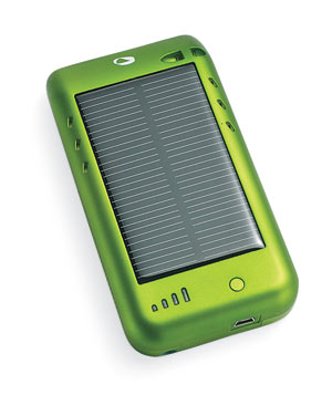 Solarcharger case for an iPod or iPhone
