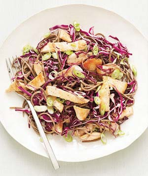 Soba Salad With Chicken and Cabbage Recipe