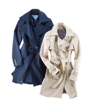 Trench coats for wide hips