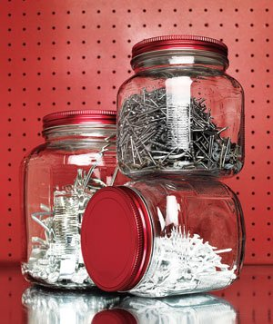 Hardware stored in jars