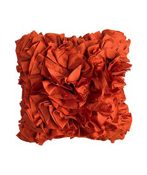 Pier 1 Imports Rust Ruffles polyester pillow