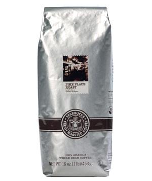 Starbucks Pike Place Roast coffee beans