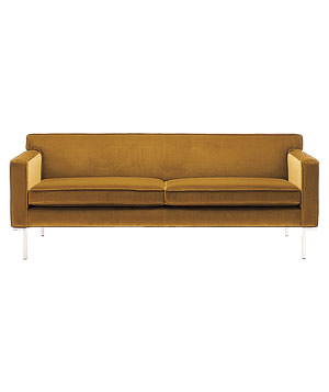 Theatre velvet sofa by Ted Boerner