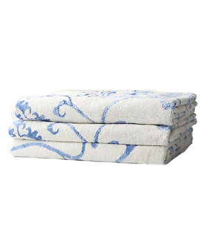 Sunwashed Suzani bath towels by Anthropologie
