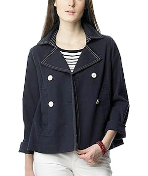 Stretch Cotton Canvas Peacoat by Nautica