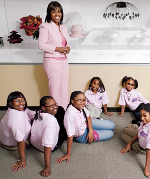 Portrait of Jocelyn Allen volunteering to empower young girls